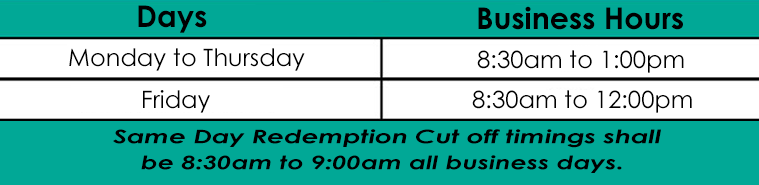 Cutt-Off timings